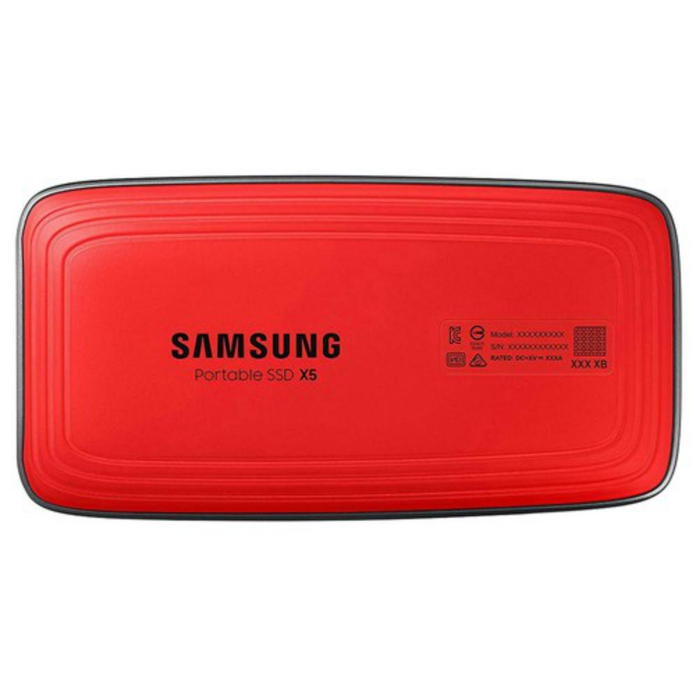 storage Samsung X5 External Solid State Drive 500GB Max Speed 2800 MB/s Thunderbolt 3 Interface SSD - Black samsung x5 external ssd 500gb 2