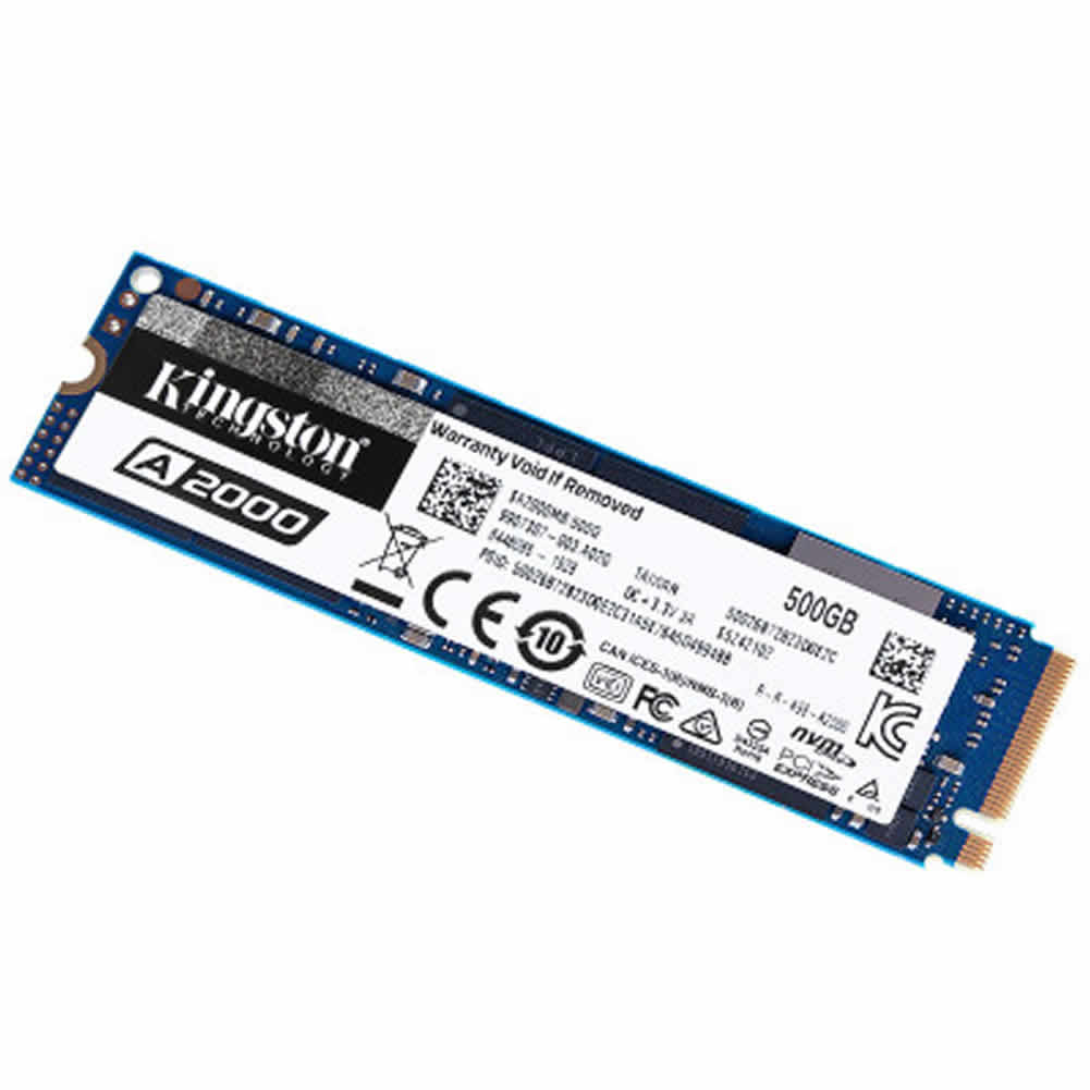 storage Kingston A2000 500GB PCIe NVMe M.2 2280 Internal SSD High Performance Solid State Drive–Blue Kingston A2000 ssd 500gb 1