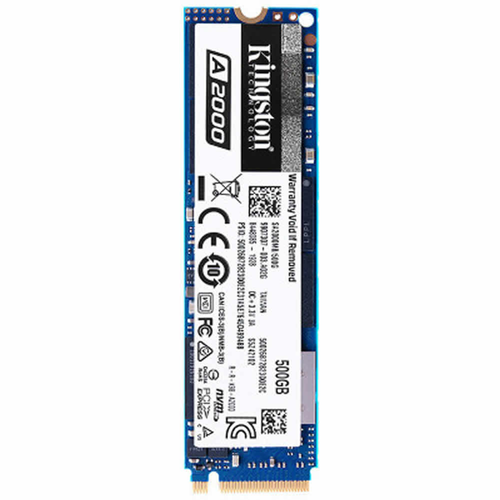 storage Kingston A2000 500GB PCIe NVMe M.2 2280 Internal SSD High Performance Solid State Drive–Blue Kingston A2000 ssd 500gb 2
