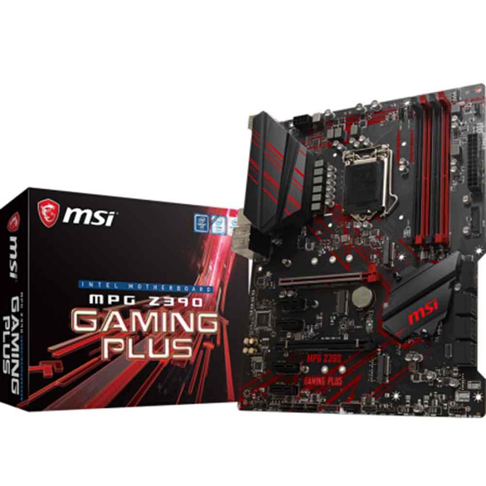 motherboards MSI MPG Z390 GAMING PLUS Motherboard Intel Z390 LGA1151 ATX DDR4 SATA 6Gb/s M.2 USB3.1 MSI MPG Z390 GAMING PLUS Motherboard 4