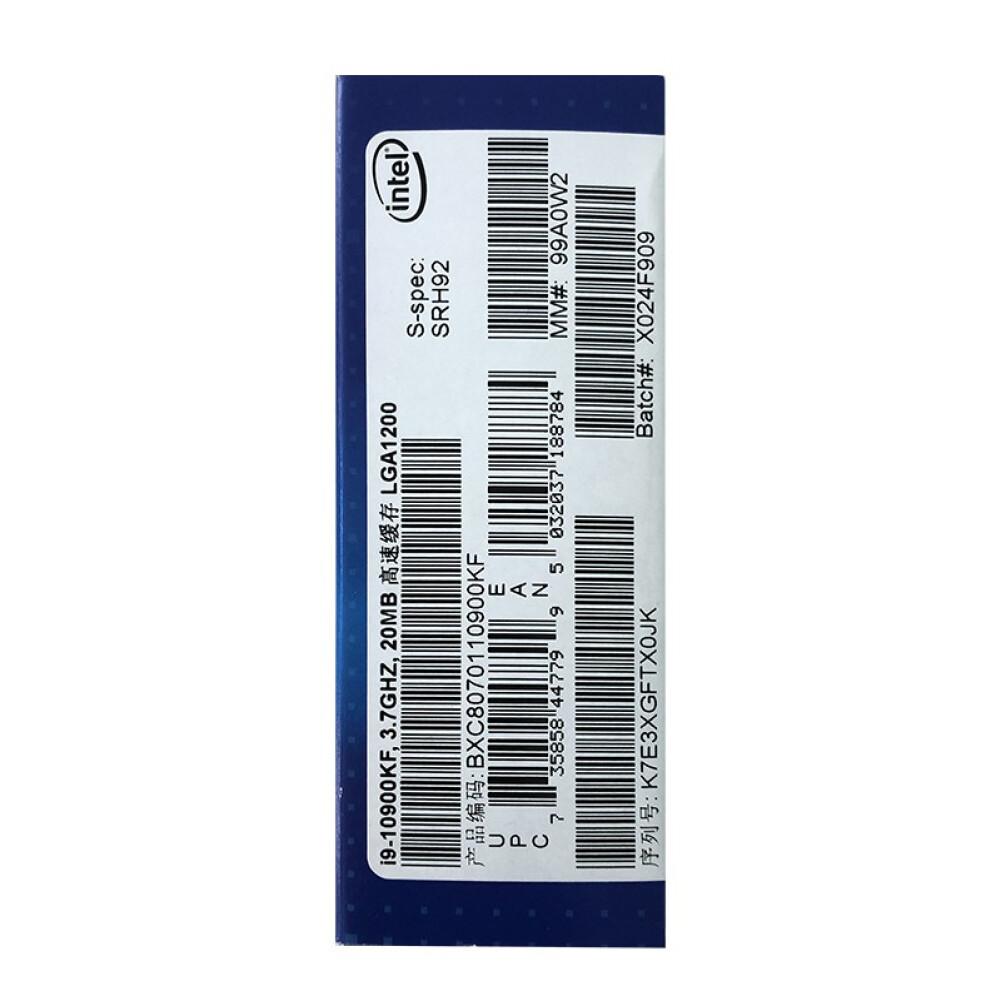 cpus-processors Intel i9-10900KF 10-Core 20-Thread Boxed CPU Desktop Processor SKU 100013163660 4 1