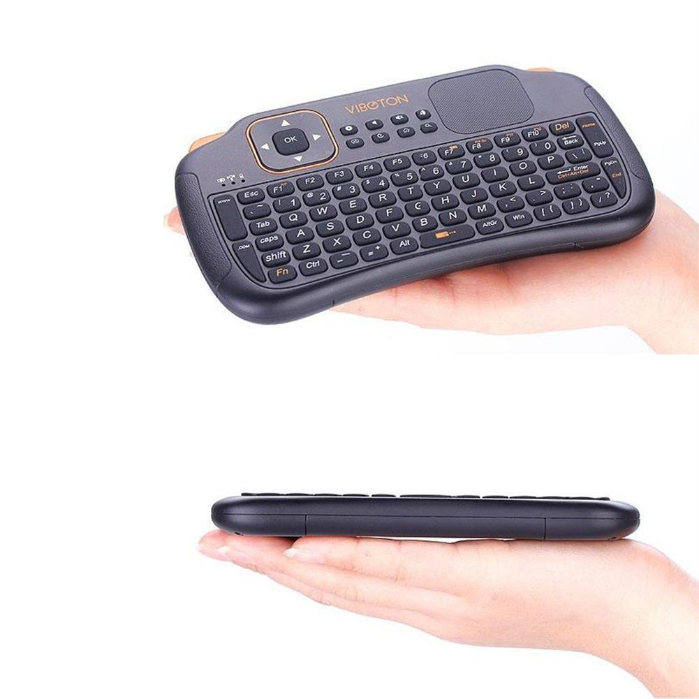 keyboards VIBOTON S1 Mini 2.4GHz Wireless Smart Keyboard Air Mouse for Mini PC Android TV HTPC HOB1006422 1 1