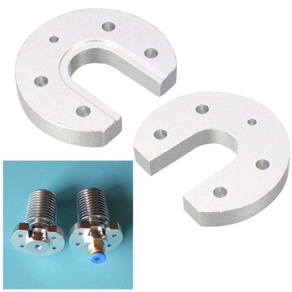 3d-printer-accessories V5 V6 Hotend J-head Aluminum Heatsink Mount Plate U-shaped for 3D Printer HOB1031720 1