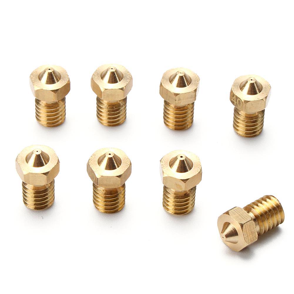3d-printer-accessories Geekcreit 8Pcs 4 Sizes V6 Brass Nozzle for 1.75mm Filament Nozzle Extruder Print Head HOB1072935 1 1