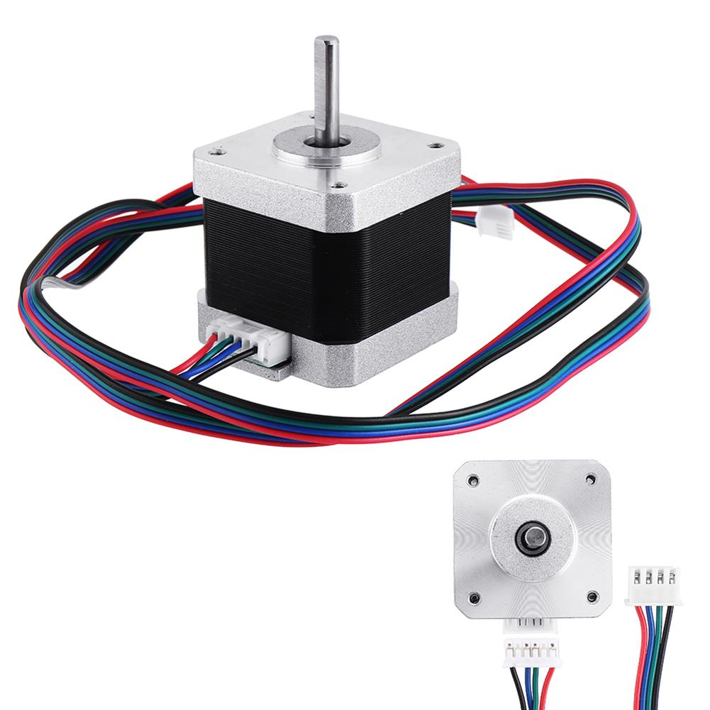 3d-printer-accessories Geeetech Nema17 Stepper Motor with Skidproof Shaft 4 Wire 2-phase 1.8 for 3D Printer RepRap HOB1074641 1