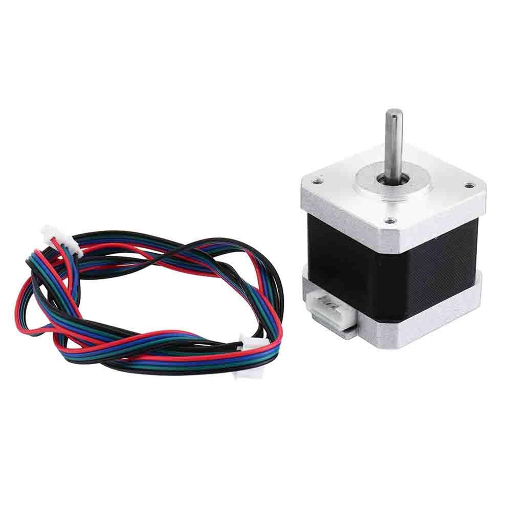 3d-printer-accessories Geeetech Nema17 Stepper Motor with Skidproof Shaft 4 Wire 2-phase 1.8 for 3D Printer RepRap HOB1074641 1 1