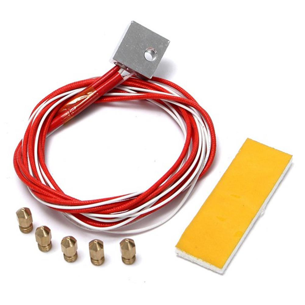 3d-printer-accessories 3D Printer Heating Aluminum Block thermistor with 0.4mm Nozzle Kit for MK8 Extruder HOB1091916 1