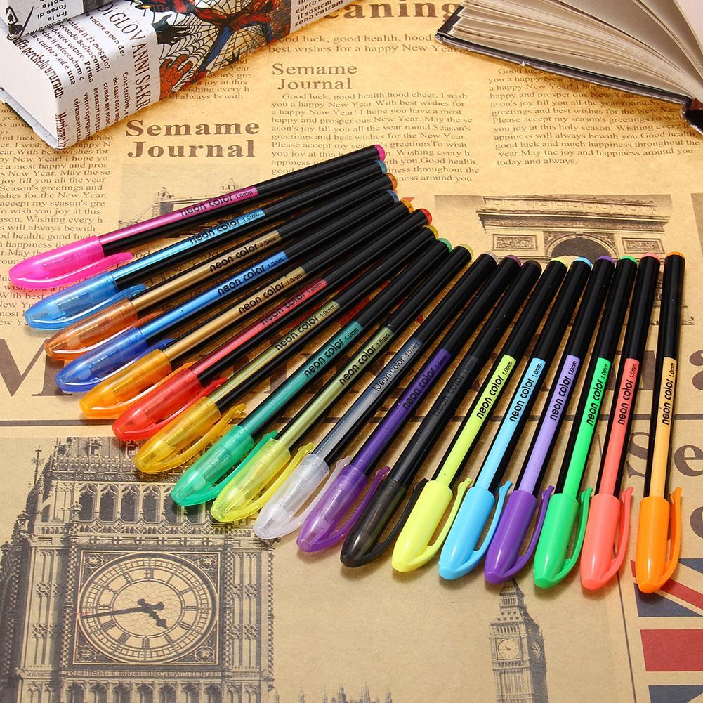 gel-pen 18 Pcs Color Gel Pen Set Adult Coloring Book ink Pens Drawing Painting Craft Art Sketch Stationery School Student Supplies HOB1122016 3 1