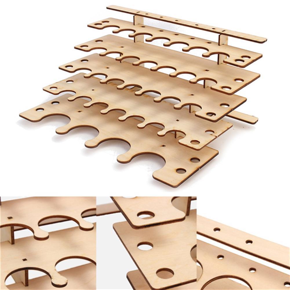 desktop-off-surface-shelves 32 Pots Wooden Acrylic Paint Stand Bottle Storage Rack Holder Modular Organizer HOB1122017 1 1