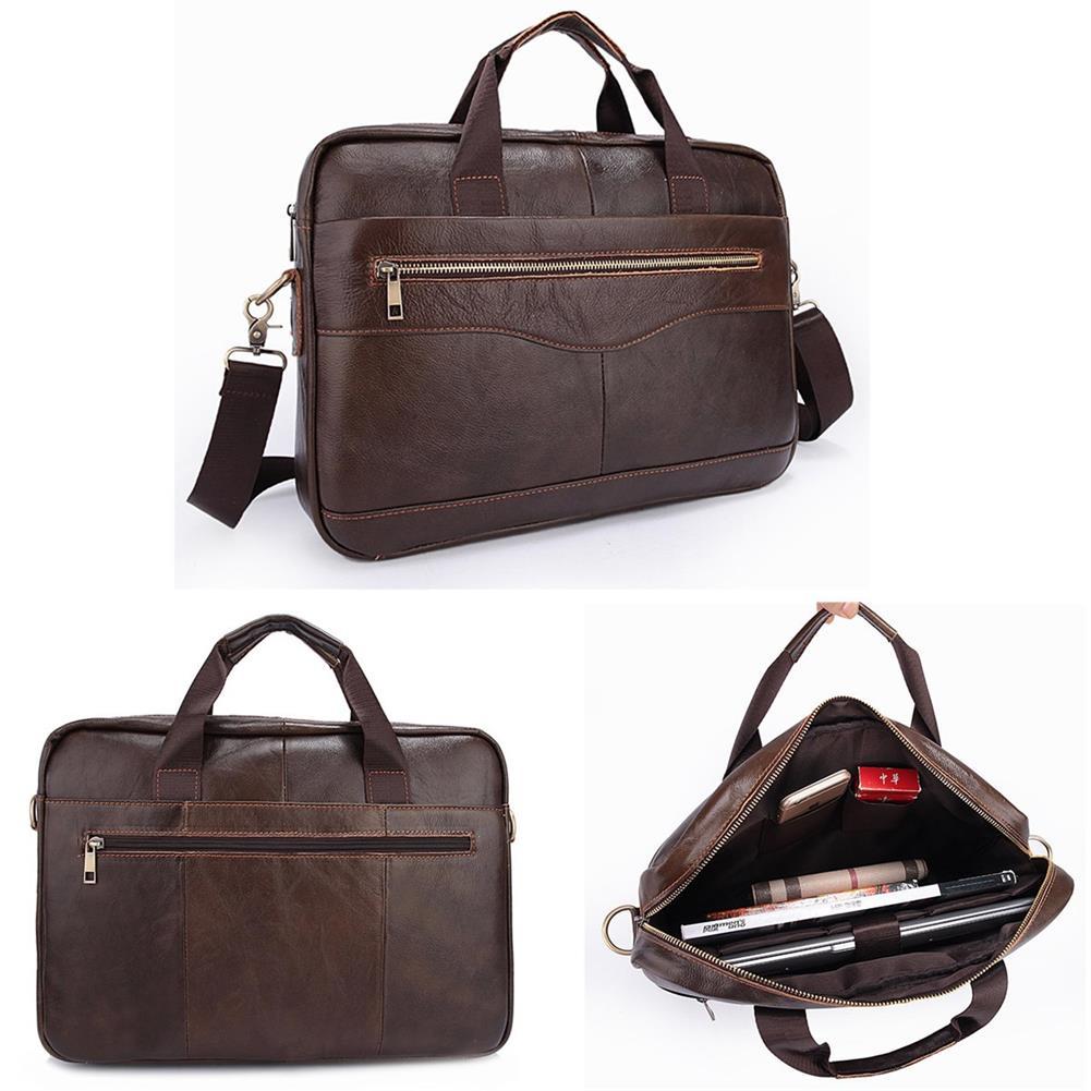 laptop-bags, cases-sleeves Men Briefcases Handbag Document Business office Laptop Bag Leather Male Work Bag Brown HOB1122046 1