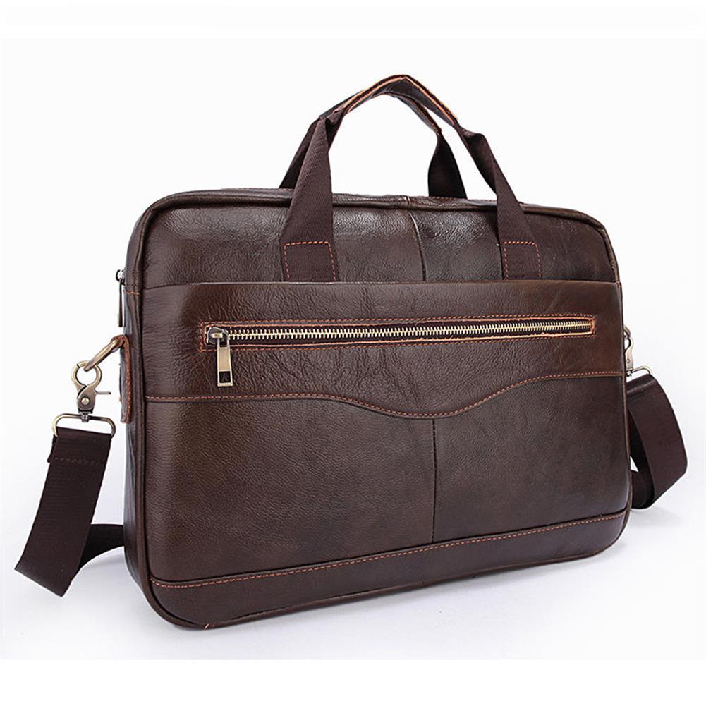 laptop-bags, cases-sleeves Men Briefcases Handbag Document Business office Laptop Bag Leather Male Work Bag Brown HOB1122046 1 1
