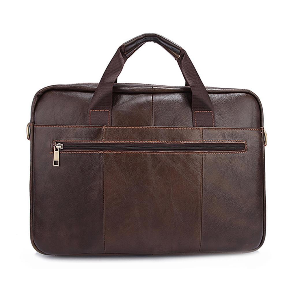 laptop-bags, cases-sleeves Men Briefcases Handbag Document Business office Laptop Bag Leather Male Work Bag Brown HOB1122046 2 1