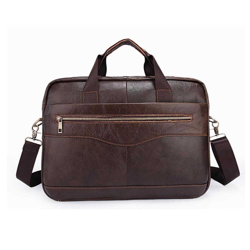 laptop-bags, cases-sleeves Men Briefcases Handbag Document Business office Laptop Bag Leather Male Work Bag Brown HOB1122046 3 1