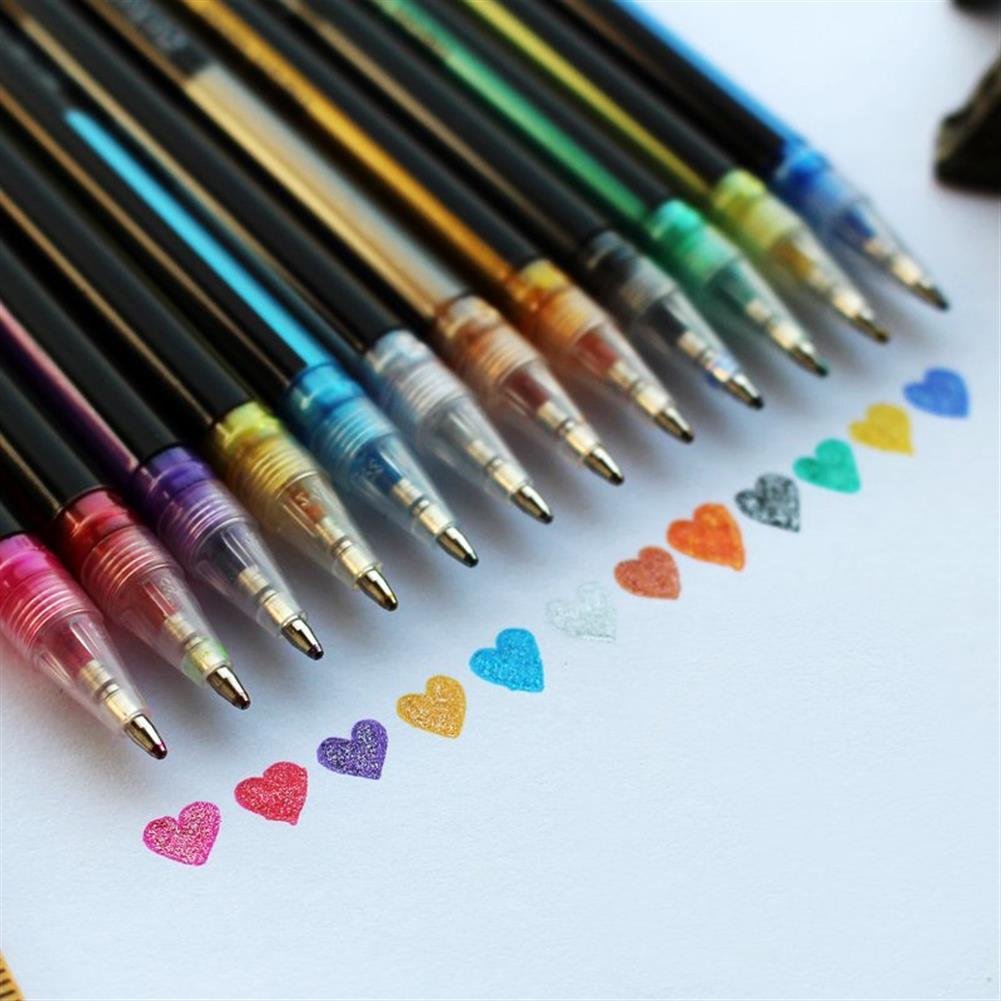 gel-pen 36 Colors Gel Pen Set Adult Coloring Book ink Pens Drawing Painting Art School Supplies HOB1122491 2 1