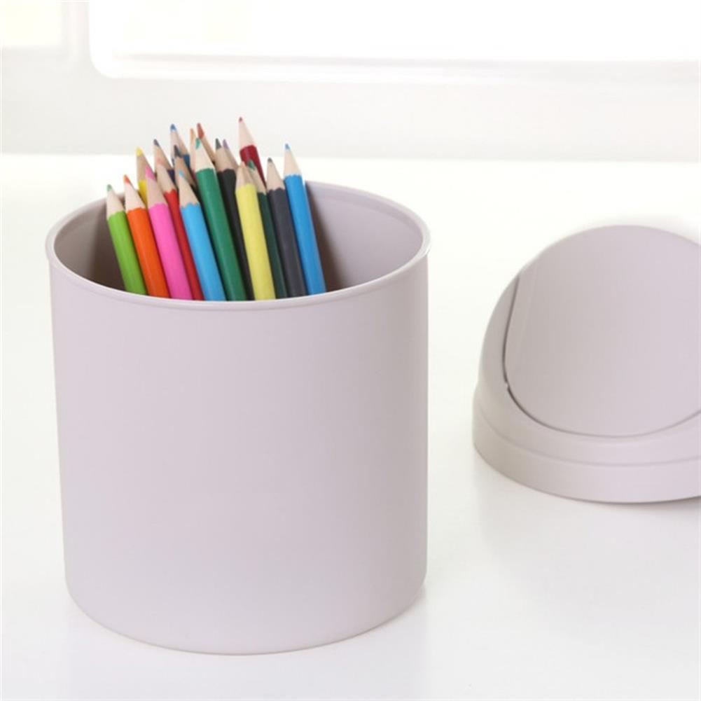 desktop-off-surface-shelves Mini Waste Bin Desktop Garbage Basket Home Table Trash Can Dustbin Container HOB1126397 2 1
