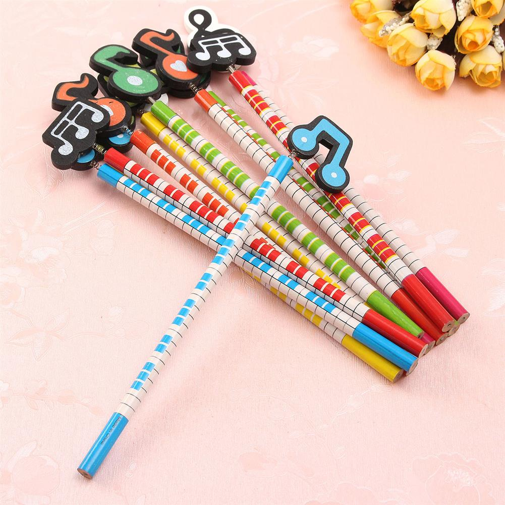 gel-pen 12 Pcs Wooden Pencils Musical Note Patterns Cartoon Pencils Writing Painting Stationery Gifts for Children HOB1126398 1