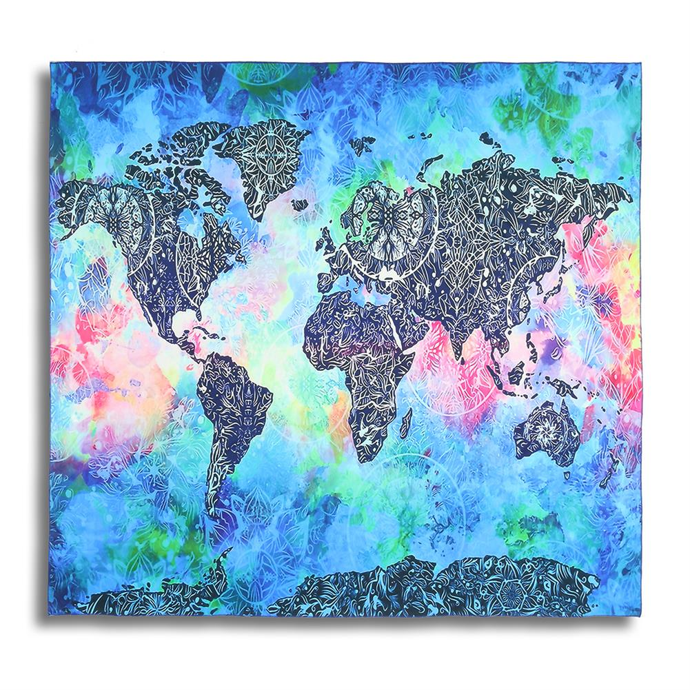 other-learning-office-supplies 150*130 cm Vintage World Map Blanket Cosmos Galaxy Polyester Wall Hanging Tapestry Home Living Room office Background Decor HOB1129925 1 1