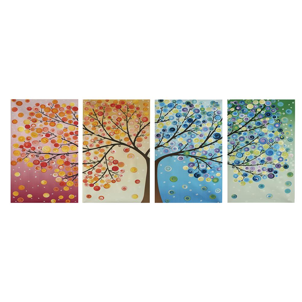 other-learning-office-supplies 4pcs Canvas Wall Art Painting 40*60cm Hanging Pictures Season Trees Living Hall Decoration Supplies no Frame HOB1139085 1