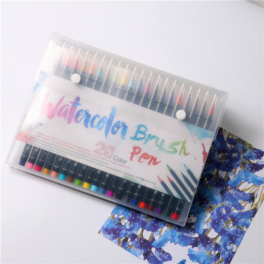 writing-brush 20 Colors Watercolor Drawing Writing Brush Artist Sketch Manga Marker Pen Set HOB1155971 1 1