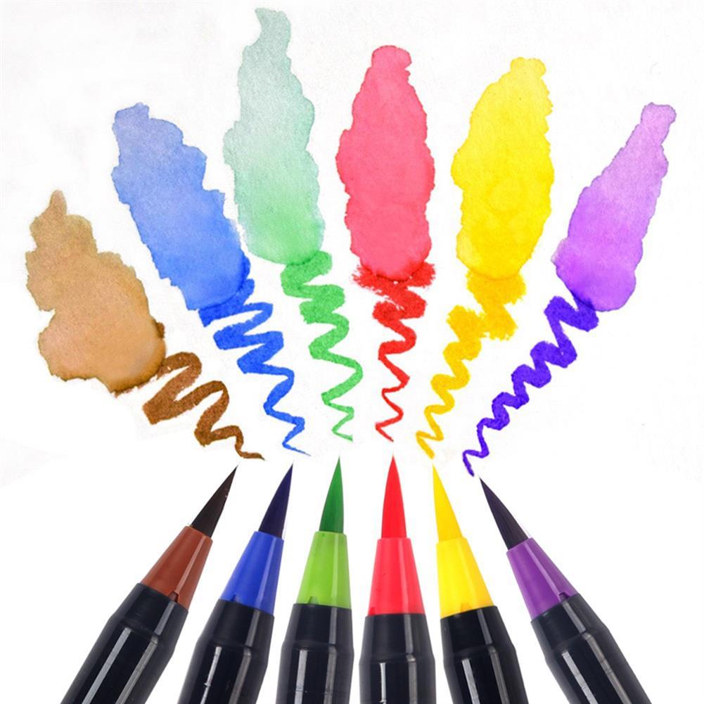 writing-brush 20 Colors Watercolor Drawing Writing Brush Artist Sketch Manga Marker Pen Set HOB1155971 3 1