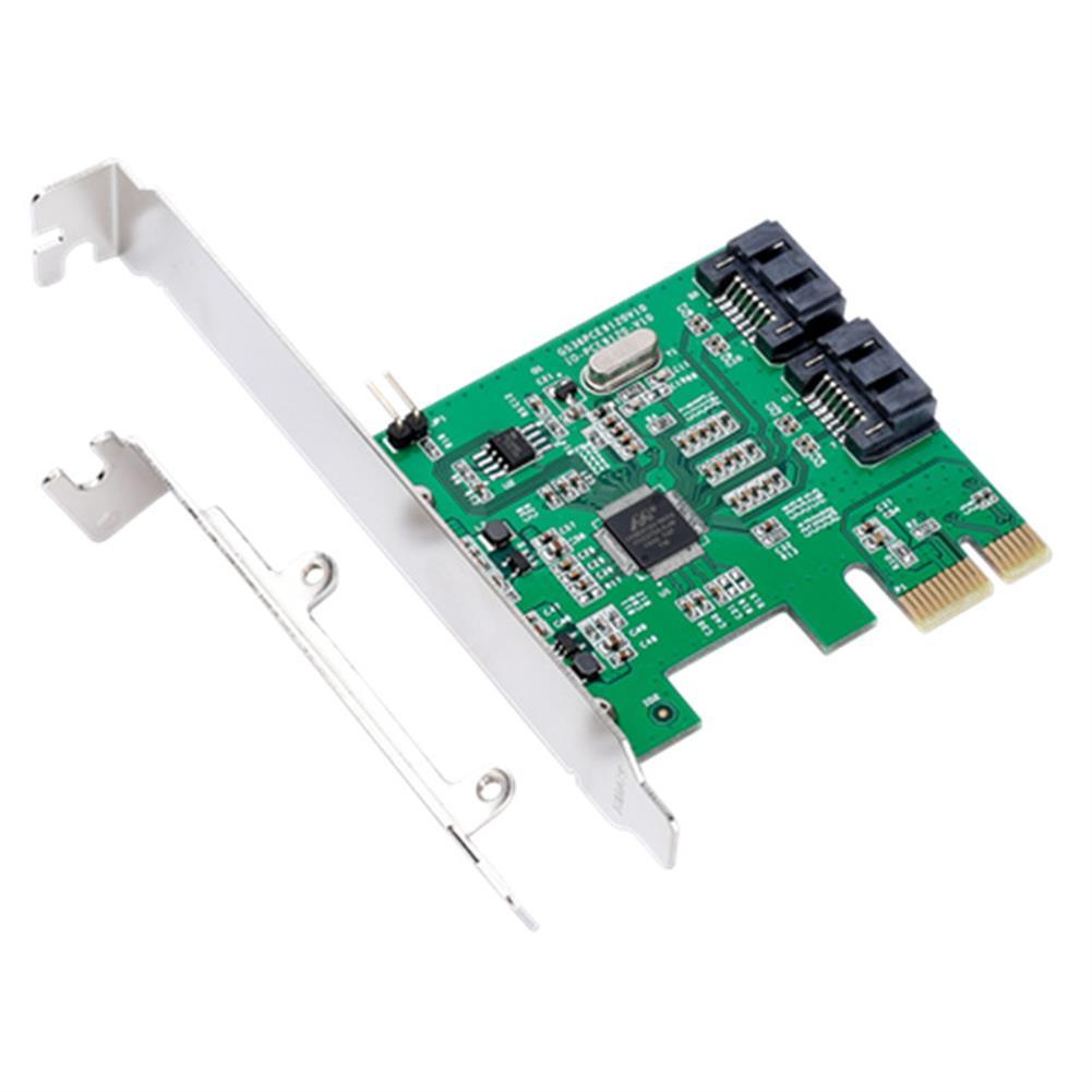 pci-cards IOCREST IO-PCE9120-2I PCI-E to 2 SATA 3.0 Expansion Card SSD Boot 4TB for Desktop HOB1157648 1