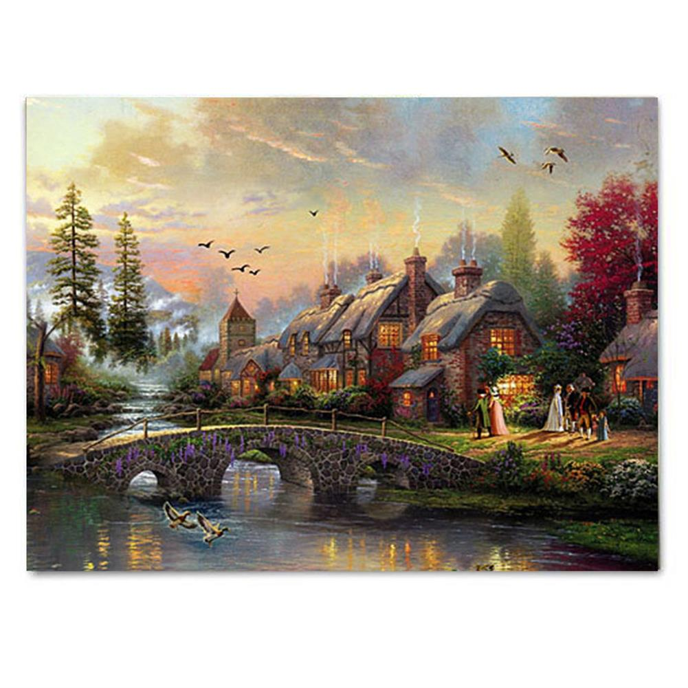 art-kit LED Luminous Canvas Paintings Rustic Dreamy Scenery Landscape Wall Decorative Printing Art Picture Frameless Home office Wall Decoration HOB1158952 1