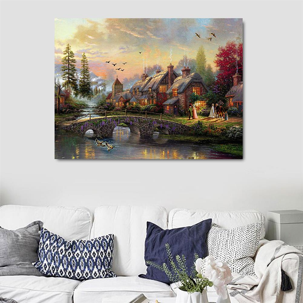 art-kit LED Luminous Canvas Paintings Rustic Dreamy Scenery Landscape Wall Decorative Printing Art Picture Frameless Home office Wall Decoration HOB1158952 1 1