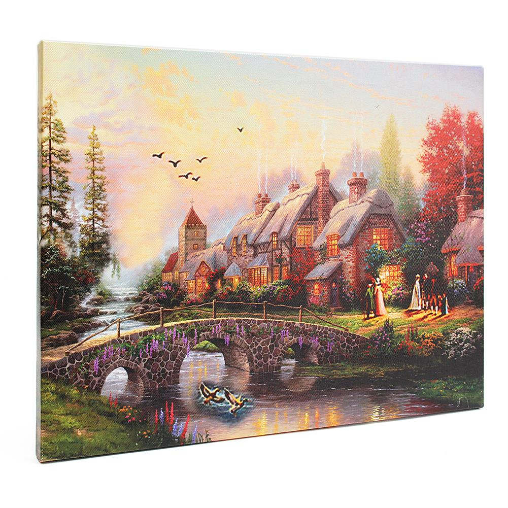 art-kit LED Luminous Canvas Paintings Rustic Dreamy Scenery Landscape Wall Decorative Printing Art Picture Frameless Home office Wall Decoration HOB1158952 2 1