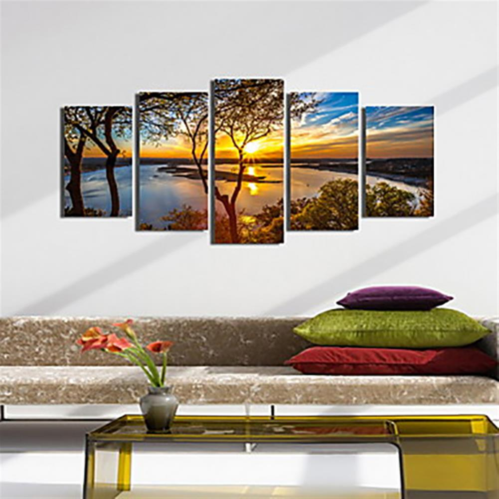 other-learning-office-supplies 5Pcs Canvas Print Paintings Landscape Wall Decorative Print Art Pictures Frameless Wall Hanging Decorations for Home office HOB1162237 3 1