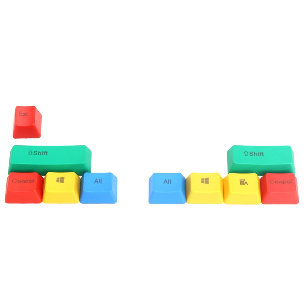 keycaps-switches 10Pcs RGBY ANSI PBT Thick Keycap Key Caps for Mechanical Gaming Keyboard HOB1173172 1