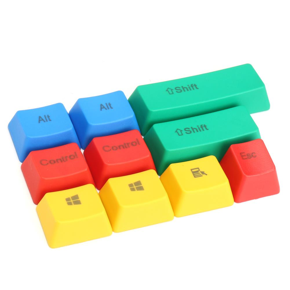 keycaps-switches 10Pcs RGBY ANSI PBT Thick Keycap Key Caps for Mechanical Gaming Keyboard HOB1173172 1 1