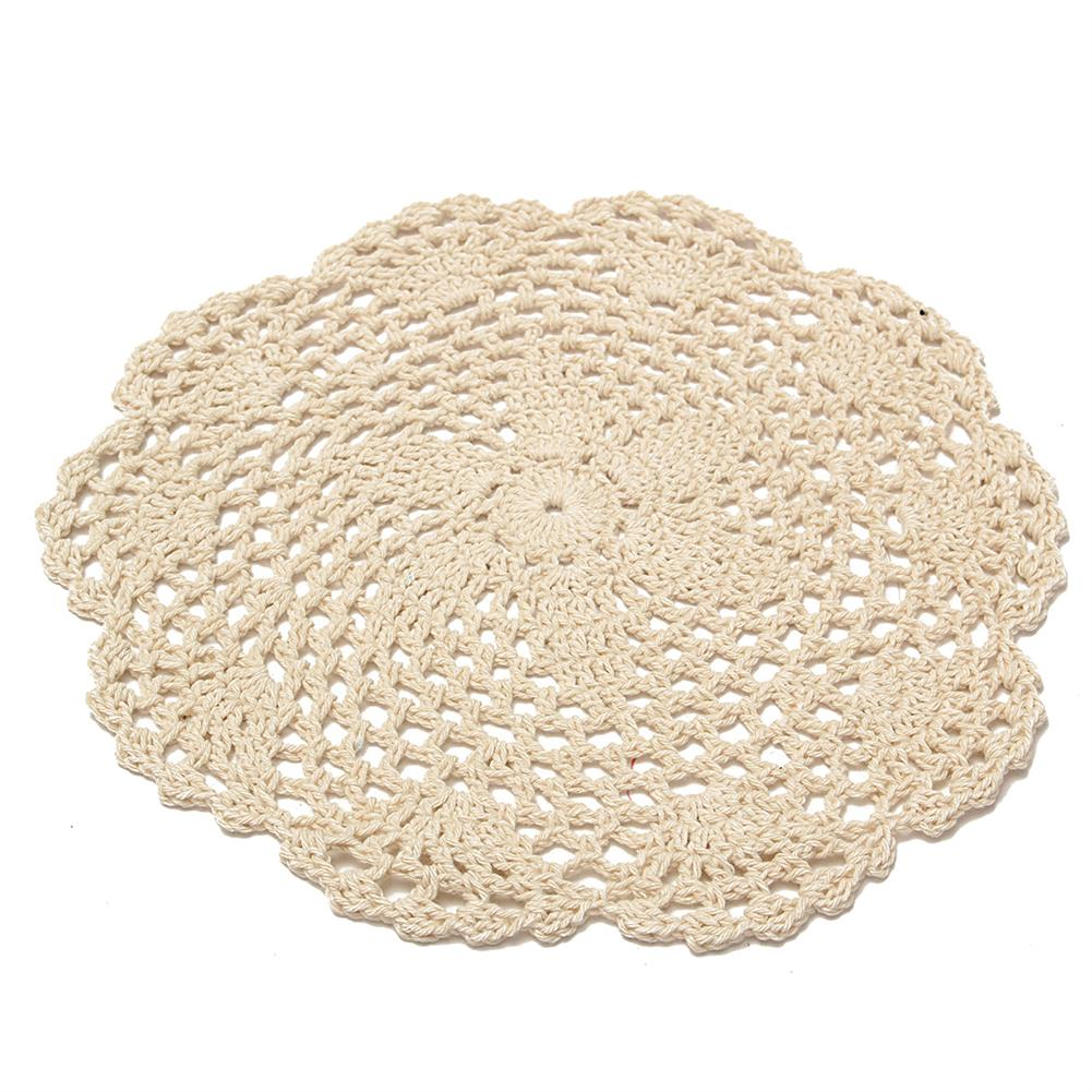 other-learning-office-supplies 12Pcs Hand Crocheted Doilies Set DIY Round Beige Handmade Crochet Doilies Coasters Lot for Home Decoration HOB1180172 1 1