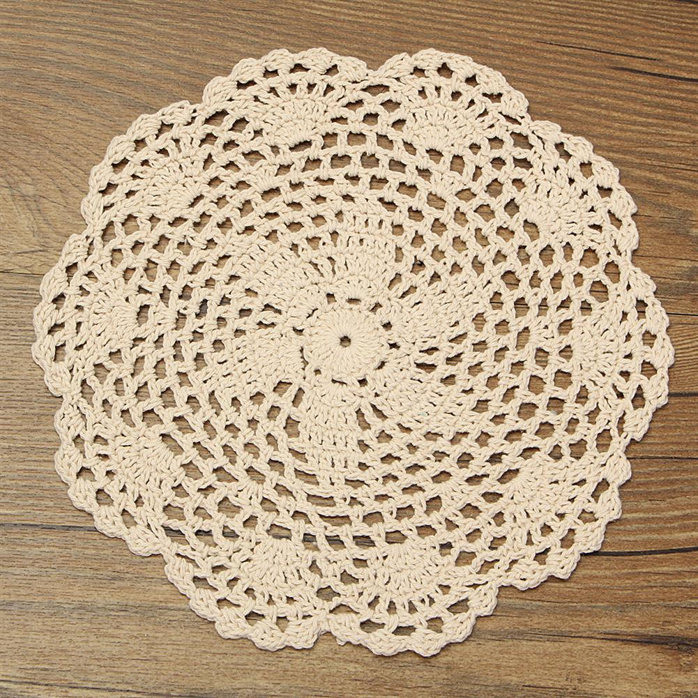 other-learning-office-supplies 12Pcs Hand Crocheted Doilies Set DIY Round Beige Handmade Crochet Doilies Coasters Lot for Home Decoration HOB1180172 2 1