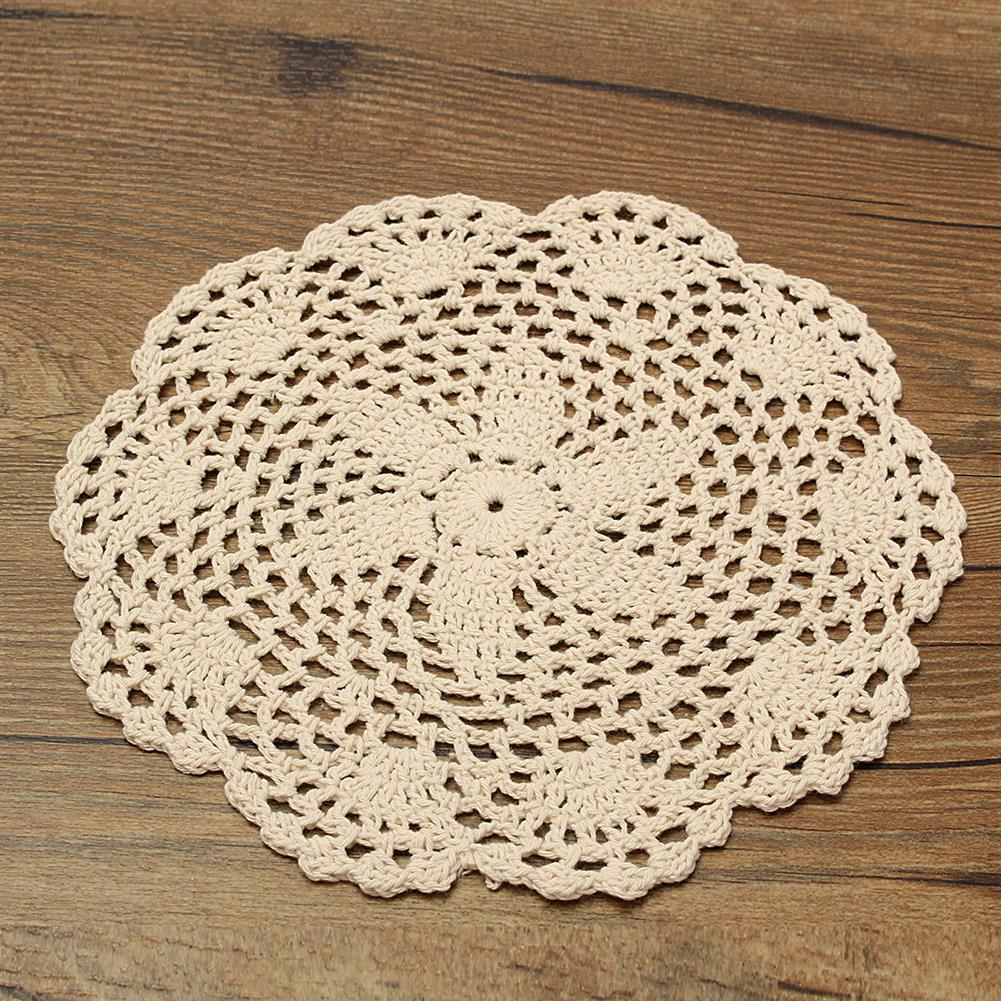 other-learning-office-supplies 12Pcs Hand Crocheted Doilies Set DIY Round Beige Handmade Crochet Doilies Coasters Lot for Home Decoration HOB1180172 3 1