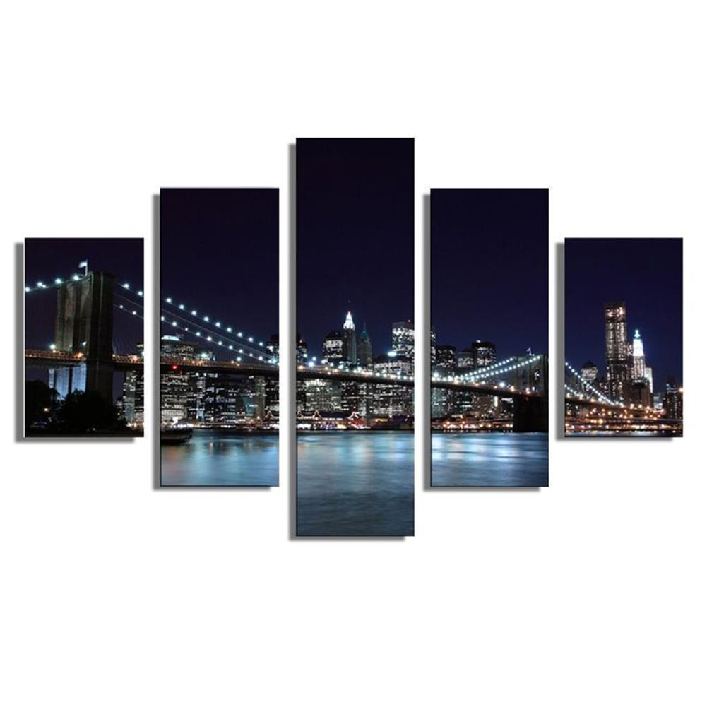 art-kit 5Pcs Canvas Painting New York City Wall Decorative Print Art Pictures Frameless Wall Hanging Home office Decorations HOB1192685 1