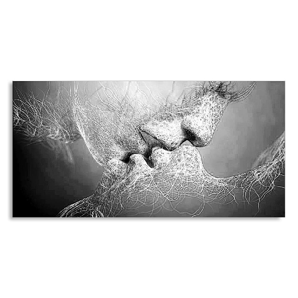 art-kit 1 Piece Wall Decorative Painting Kiss Canvas Print Art Pictures Frameless Wall Hanging Decorations for Home office HOB1195508 1