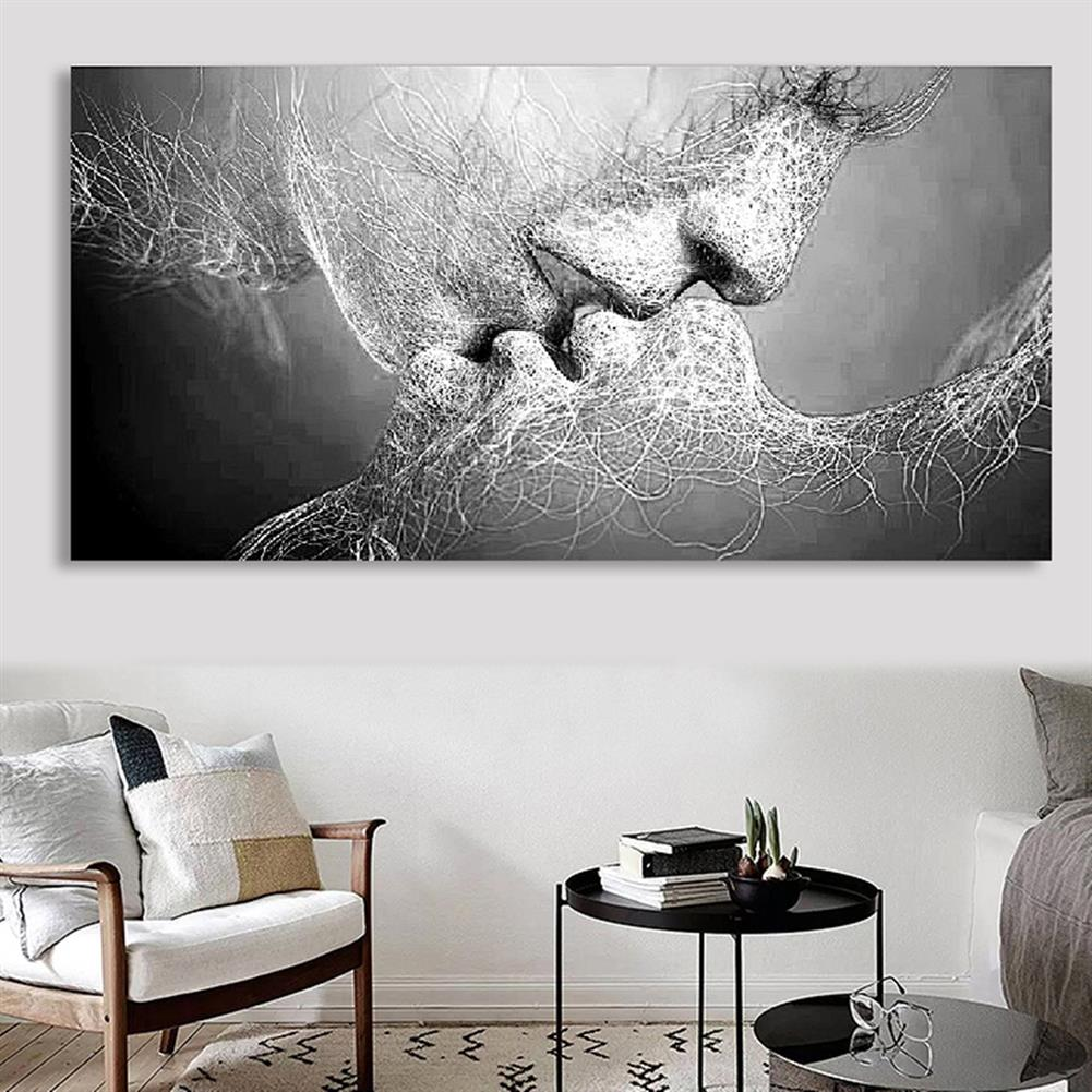 art-kit 1 Piece Wall Decorative Painting Kiss Canvas Print Art Pictures Frameless Wall Hanging Decorations for Home office HOB1195508 1 1