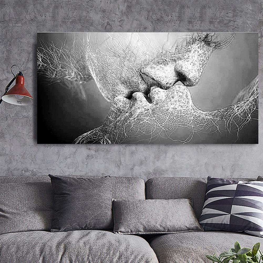 art-kit 1 Piece Wall Decorative Painting Kiss Canvas Print Art Pictures Frameless Wall Hanging Decorations for Home office HOB1195508 2 1