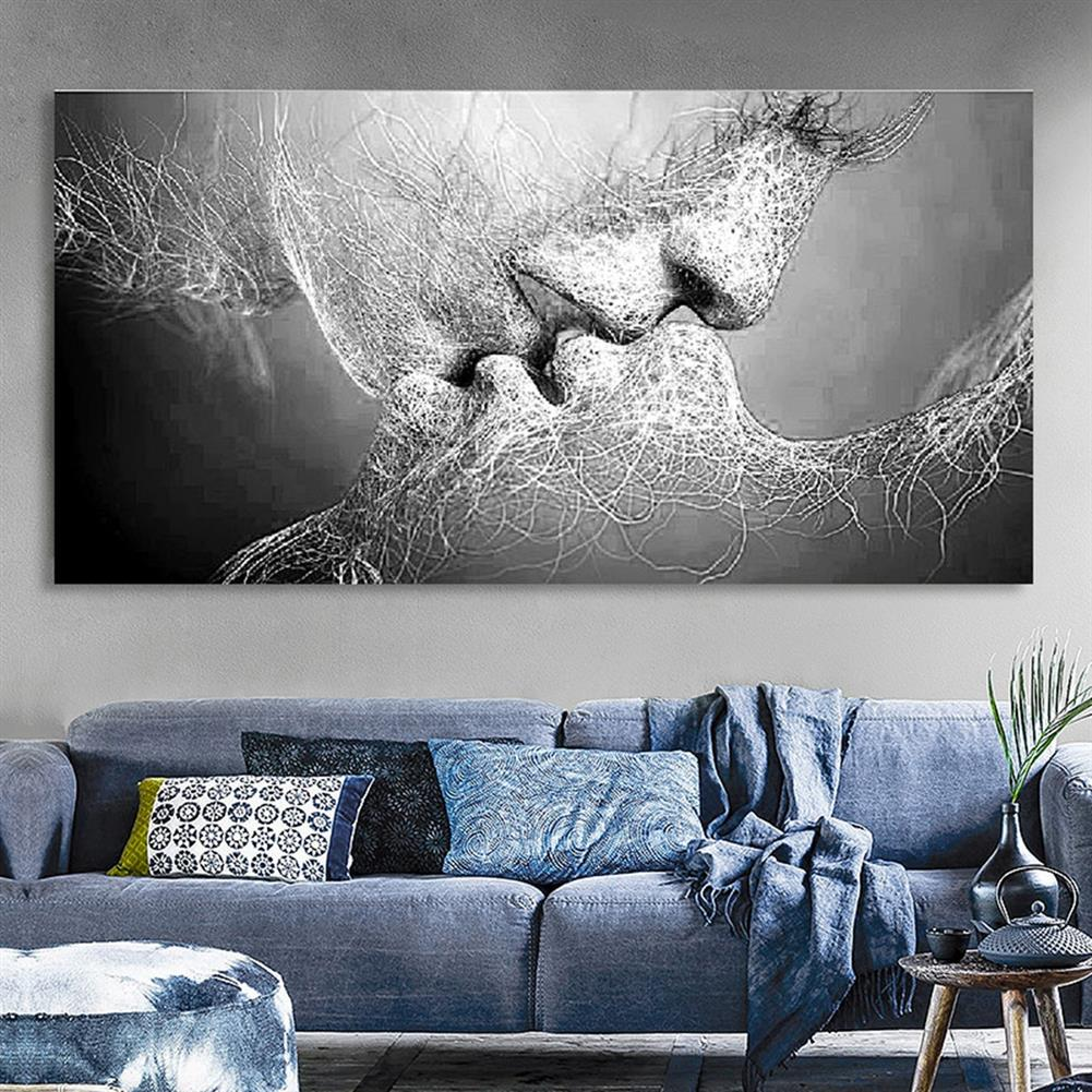 art-kit 1 Piece Wall Decorative Painting Kiss Canvas Print Art Pictures Frameless Wall Hanging Decorations for Home office HOB1195508 3 1