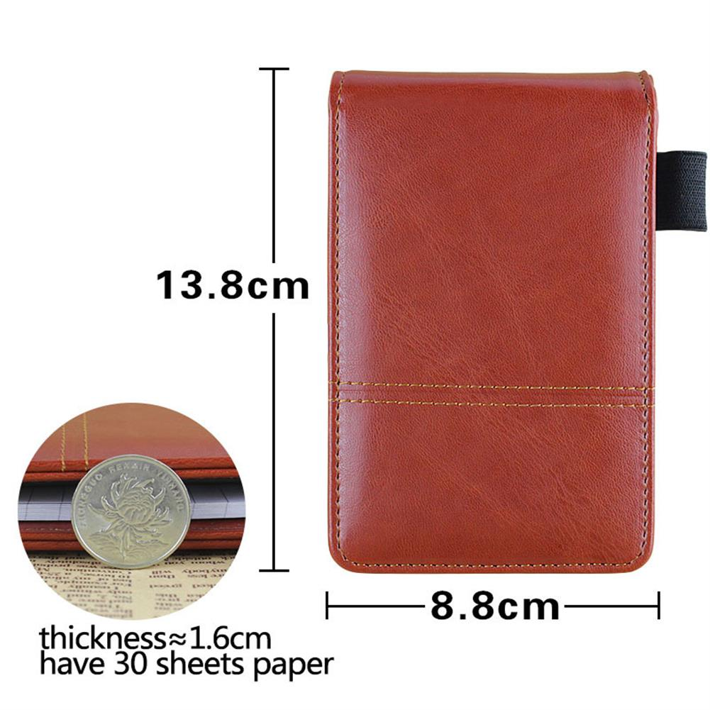 paper-notebooks RuiZe Creative PU Leather Diary A7 Planner Multifunction Pocket Mini Notebook with Calculator for School office HOB1199437 2 1