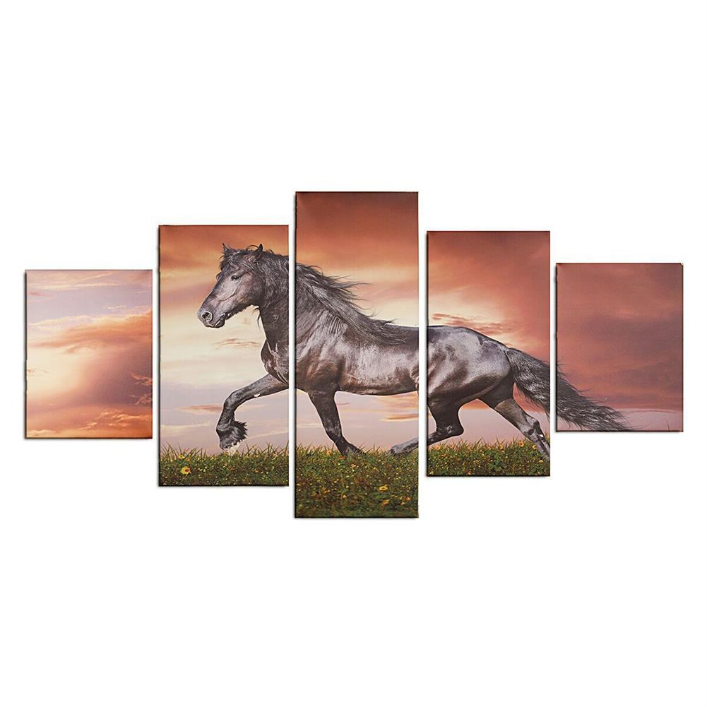 other-learning-office-supplies Modern Wall Home Decoration Art Running Horse Painting Hanging Picture Home Living Room Wall Art Decoration no Frame HOB1201700 1