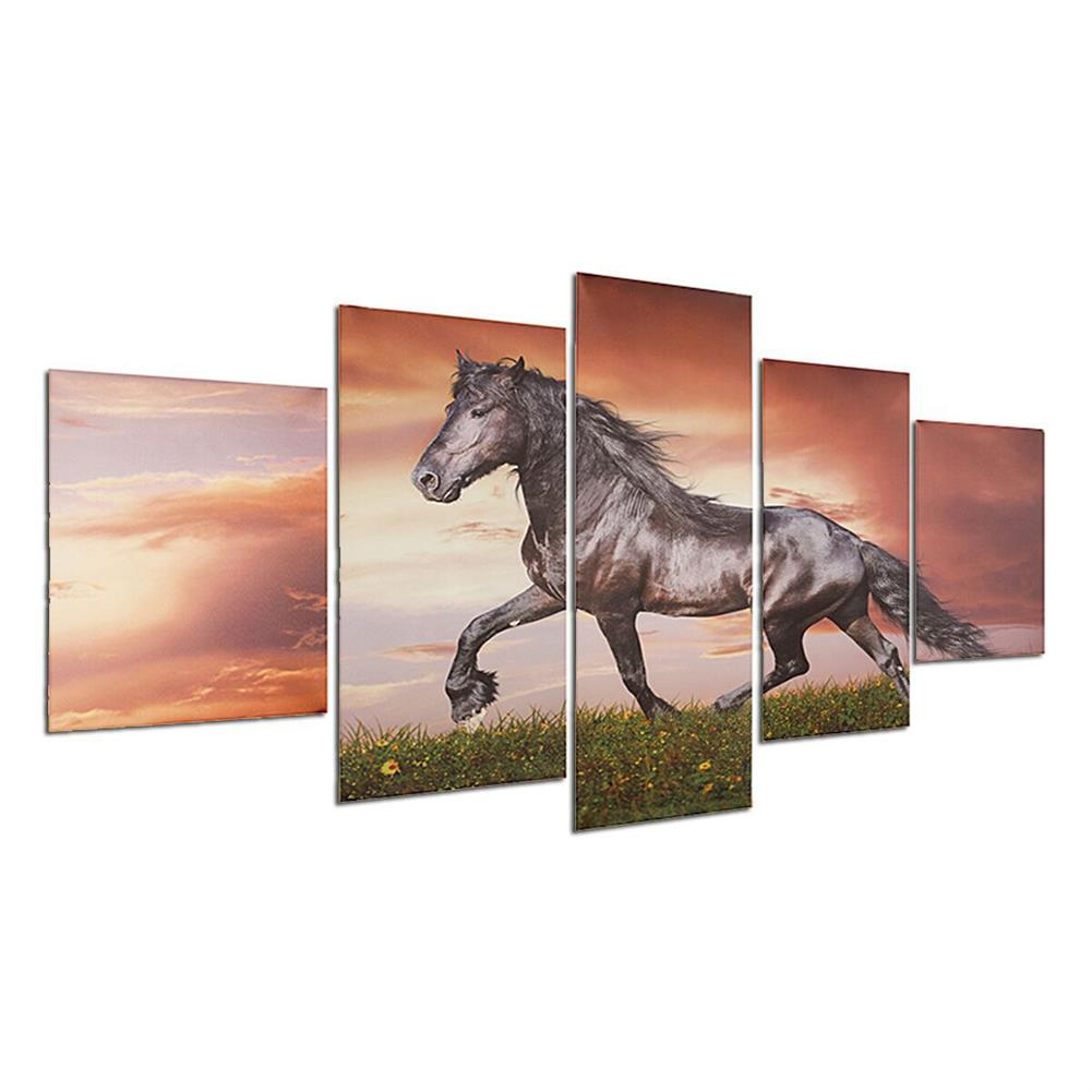 other-learning-office-supplies Modern Wall Home Decoration Art Running Horse Painting Hanging Picture Home Living Room Wall Art Decoration no Frame HOB1201700 2 1
