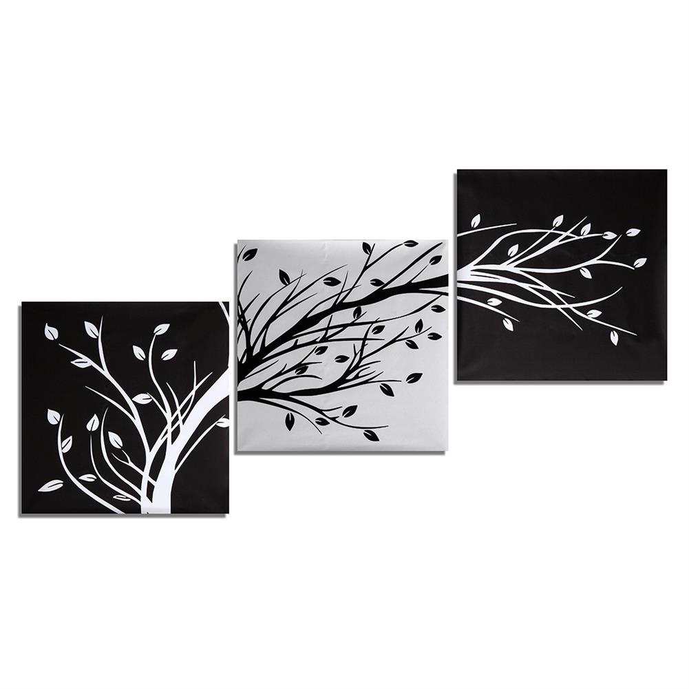 art-kit 3Pcs Wall Decorative Paintings Abstract Wood Canvas Print Art Pictures Frameless Wall Hanging Decor for Home office HOB1206624 1