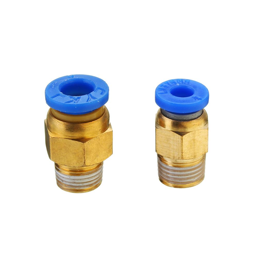 3d-printer-accessories 1.75mm/3mm Brass Pneumatic Connector Quick Joint for 3D Printer J-head Remote Extruder HOB1209031 1