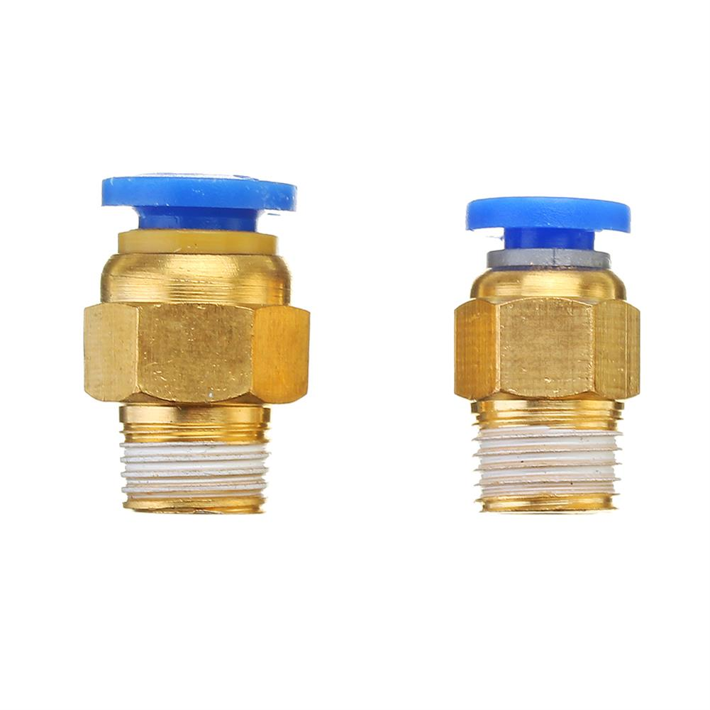 3d-printer-accessories 1.75mm/3mm Brass Pneumatic Connector Quick Joint for 3D Printer J-head Remote Extruder HOB1209031 3 1