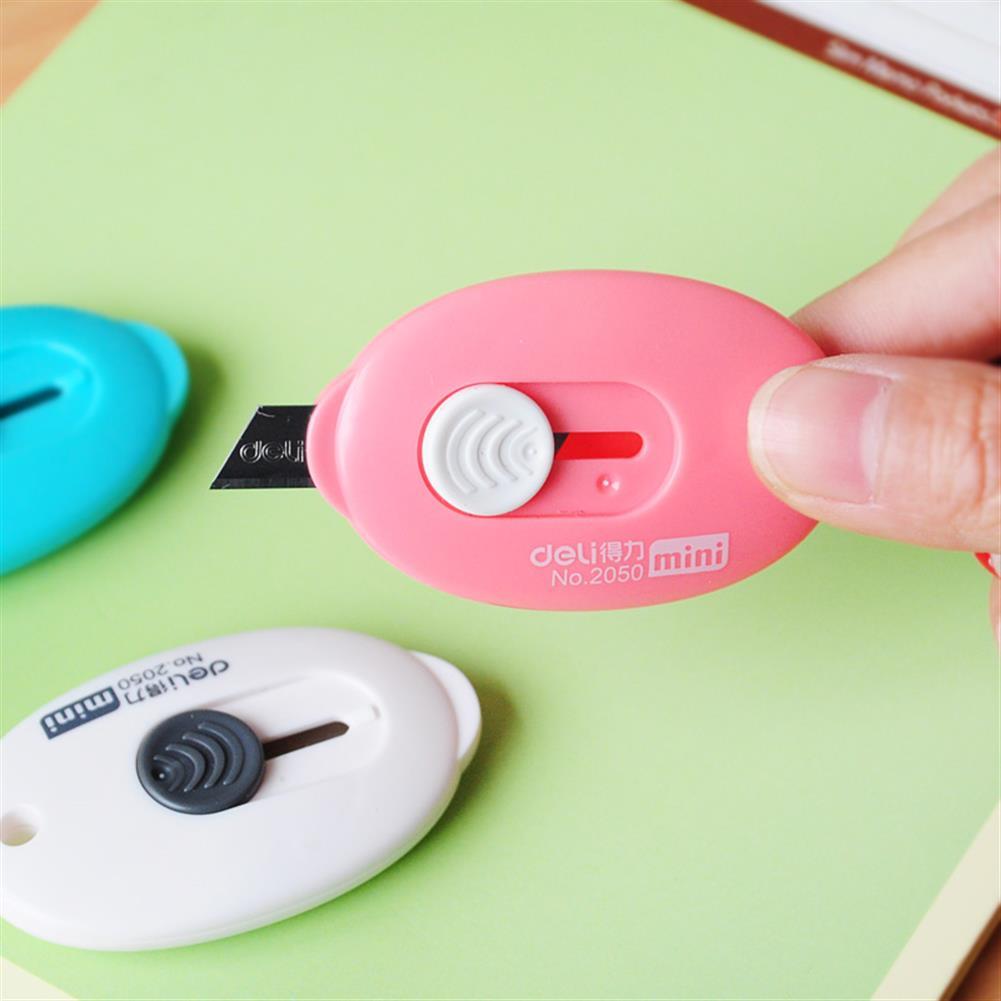 utility-knife Deli Mini Retractable Utility Cutter Pocket Sized Mini Box Cutter Retractable Cutter Random Color HOB1213292 1 1
