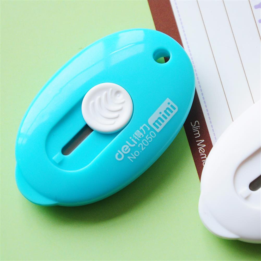 utility-knife Deli Mini Retractable Utility Cutter Pocket Sized Mini Box Cutter Retractable Cutter Random Color HOB1213292 3 1