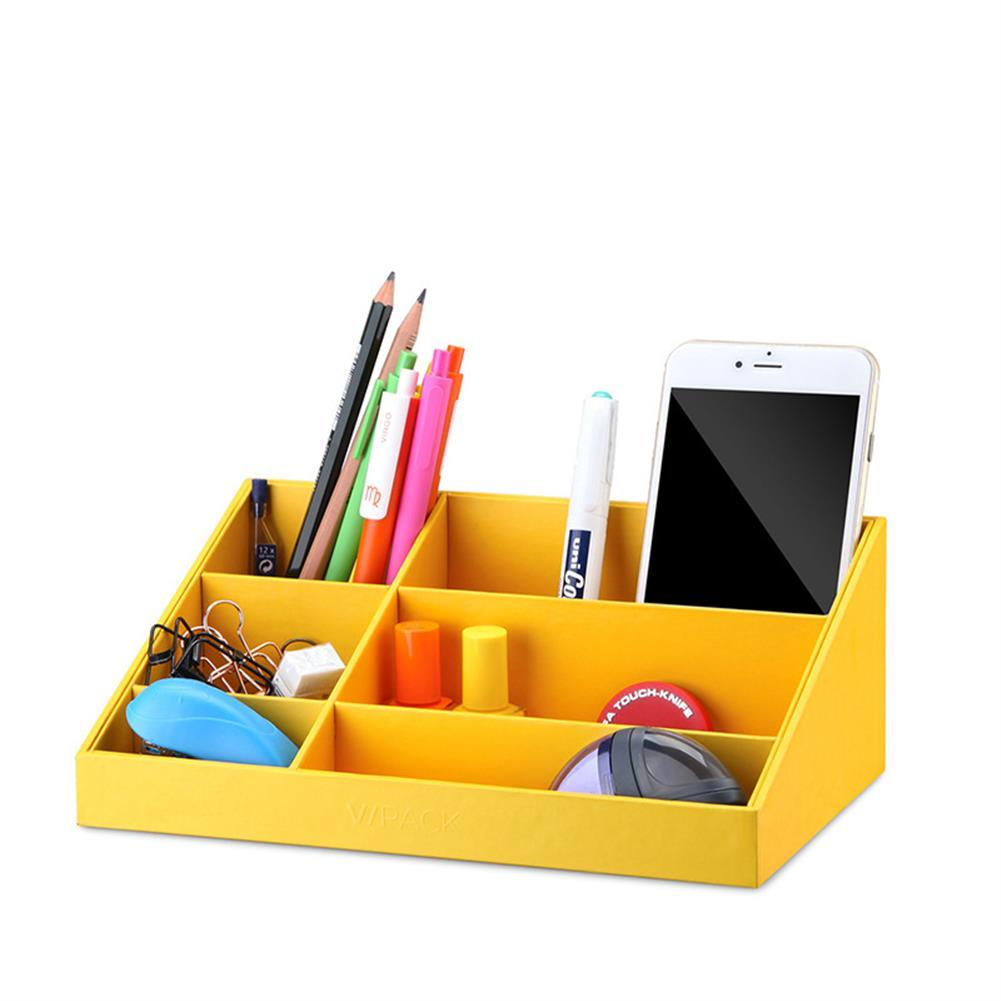 desktop-off-surface-shelves VPACK Storage Box Desk Organizer Stationery Storage Pen Holder 6 Color office School Supplies HOB1218749 1