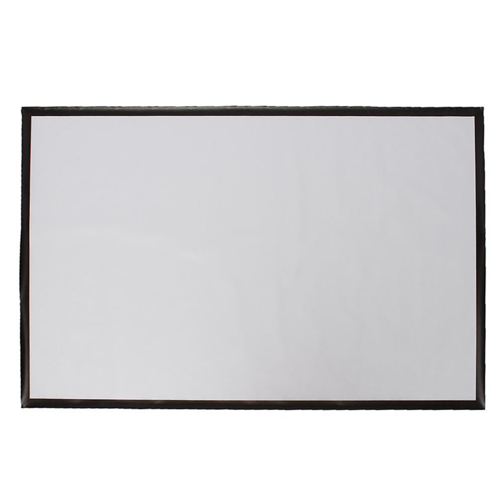 projector-screens 100 inch Projector Screen 16:9 221cm x 125cm Projector Accessories Fabric Material Matte White HOB1219424 1