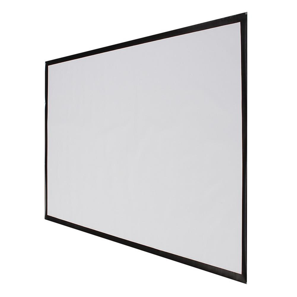 projector-screens 100 inch Projector Screen 16:9 221cm x 125cm Projector Accessories Fabric Material Matte White HOB1219424 1 1